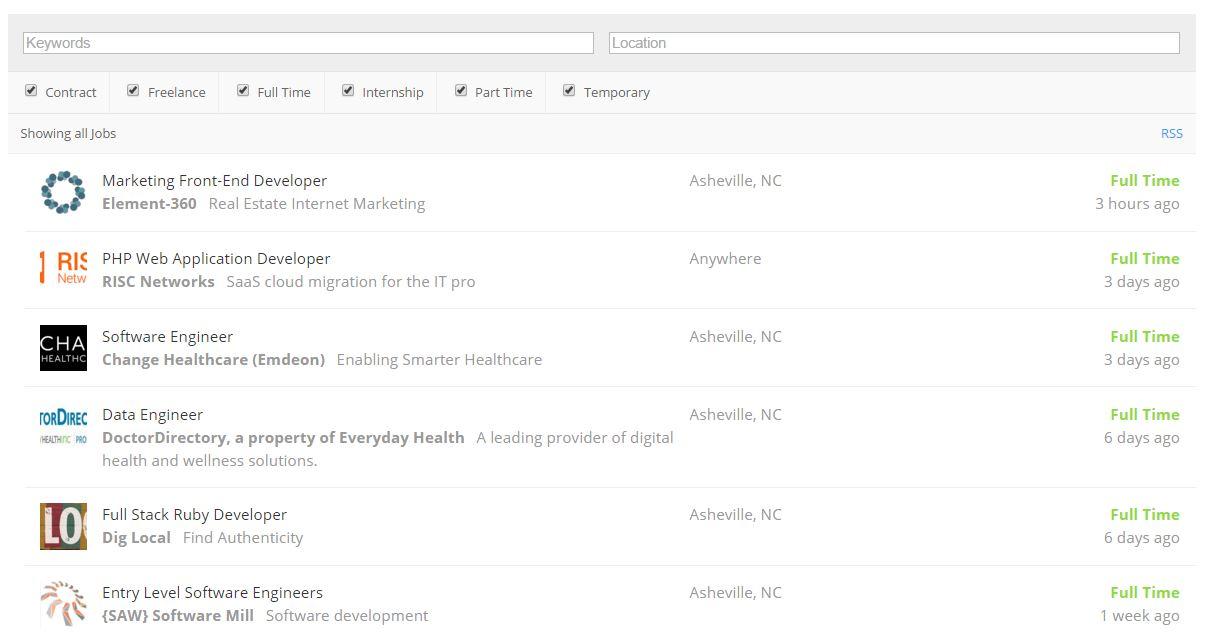 Venture Asheville Job Board - Venture Asheville