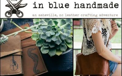 In blue handmade